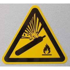 Hinweisschild Warnung vor Gasflaschen