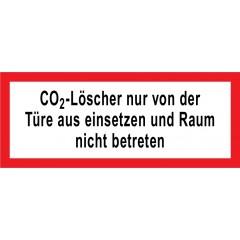 Hinweisschild CO2-Löscher