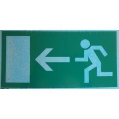 Rettungsweg - Notausgang LINKS