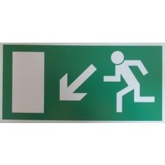 Rettungsweg, links abwärts