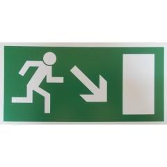 Rettungsweg, rechts abwärts
