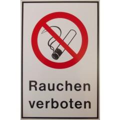 Kombischild: Rauchen verboten, Kunststoff