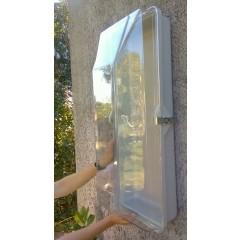 Transparenter Schutzkasten für Feuerlöscher