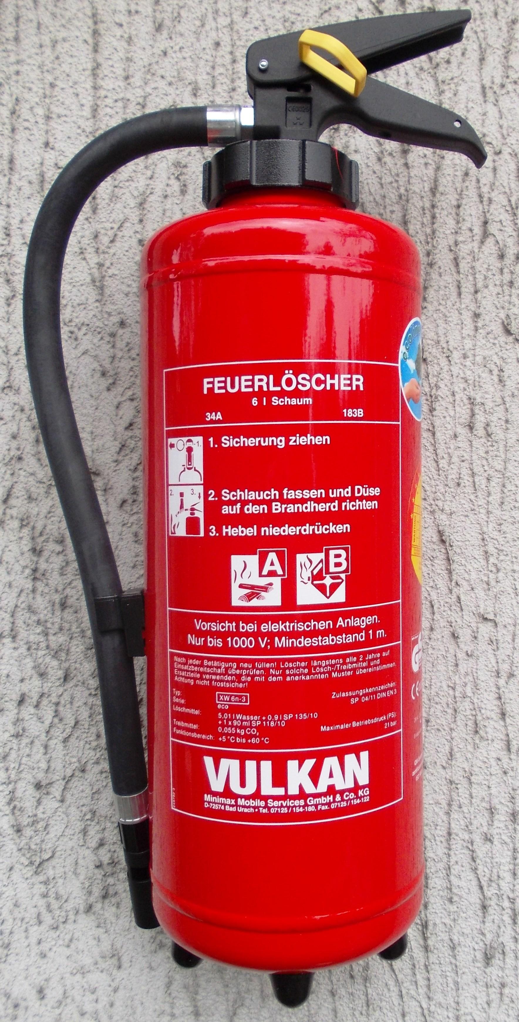 Schaumfeuerlöscher 6 Liter XW6